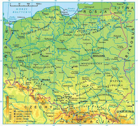 Polska mapa fizyczna obrazy dla mapy polski